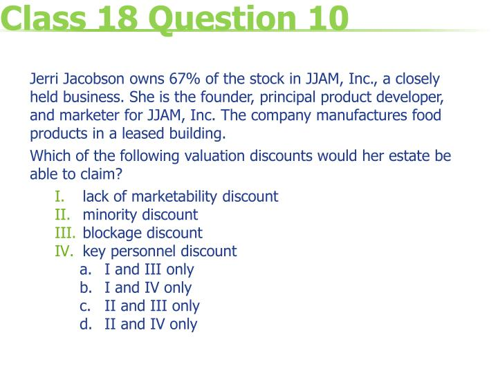 Class 18 Question 10