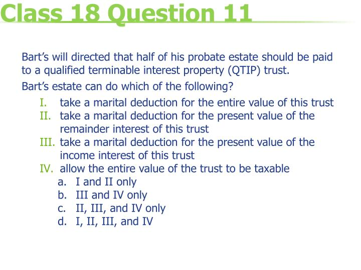 Class 18 Question 11