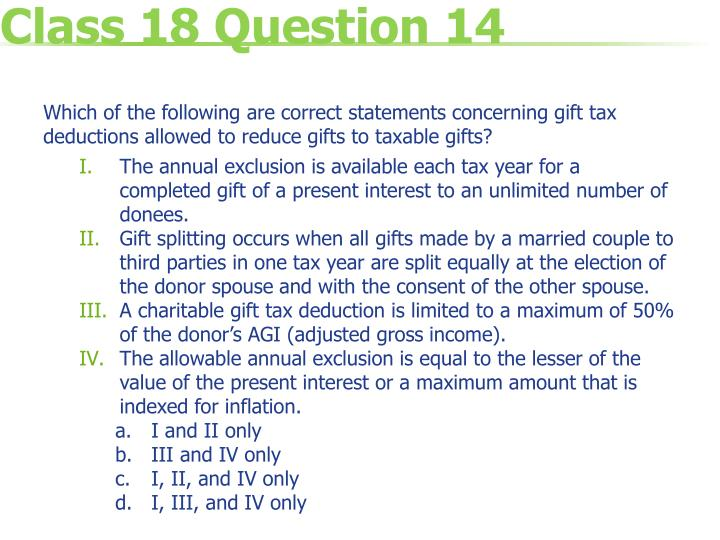 Class 18 Question 14