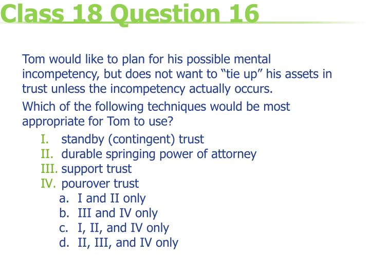 Class 18 Question 16