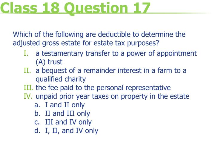 Class 18 Question 17