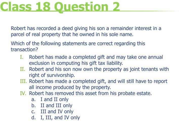 Class 18 Question 2
