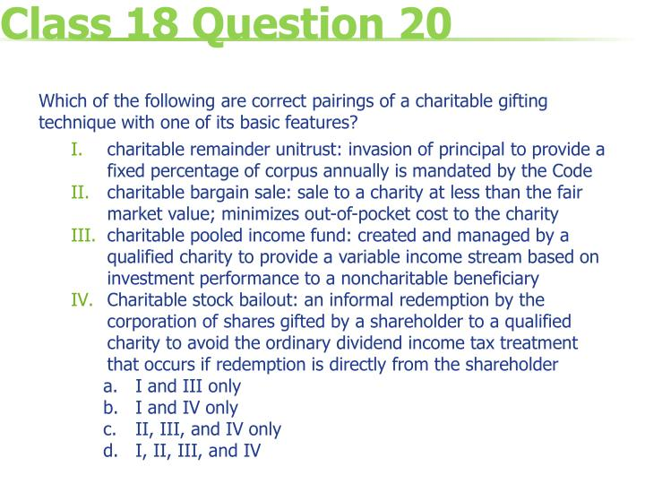 Class 18 Question 20