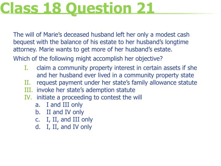 Class 18 Question 21