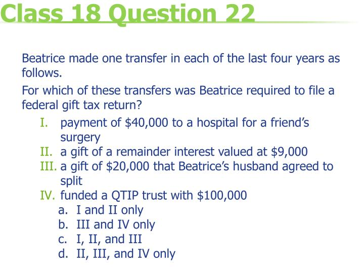 Class 18 Question 22