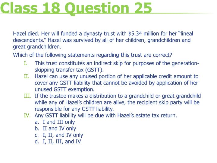 Class 18 Question 25