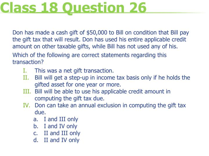 Class 18 Question 26