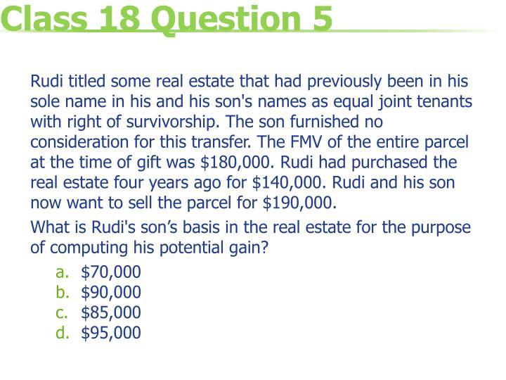 Class 18 Question 5