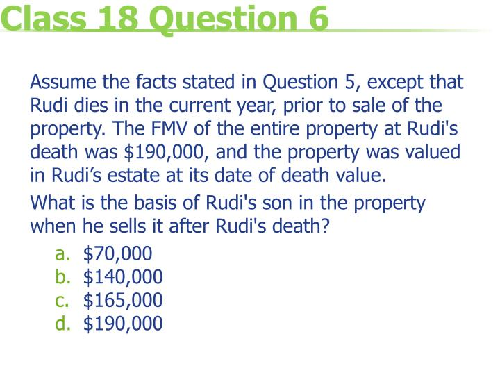 Class 18 Question 6