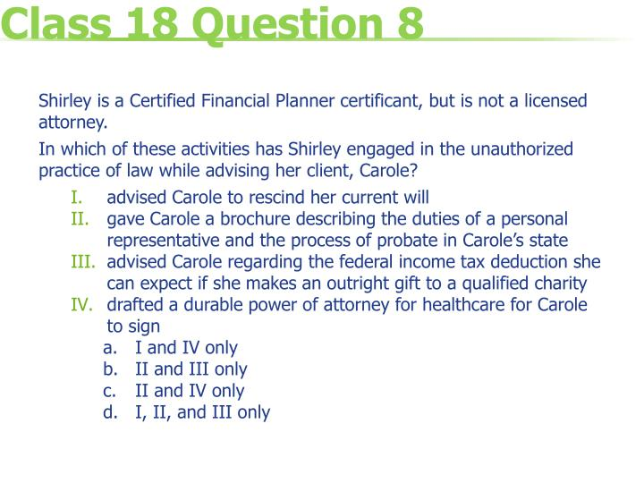 Class 18 Question 8