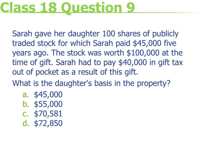 Class 18 Question 9