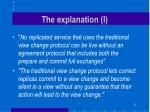 the explanation i