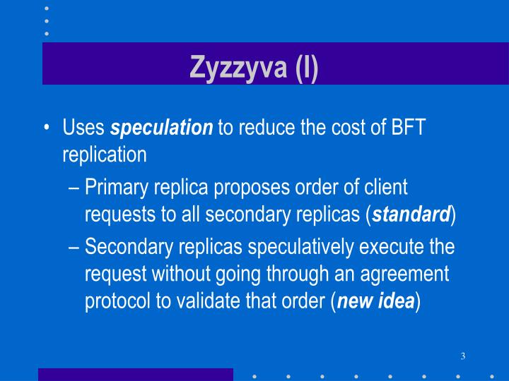 Zyzzyva (I)