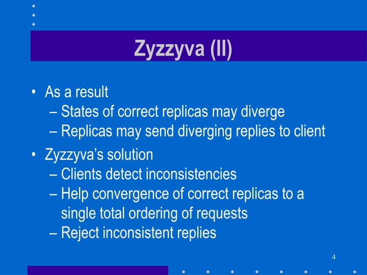 Zyzzyva (II)