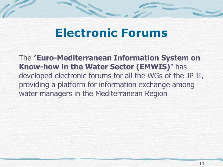 Electronic Forums