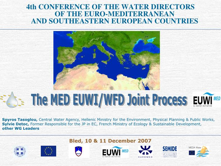 4th CONFERENCE OF THE WATER DIRECTORS                                  OF THE EURO-MEDITERRANEAN    ...