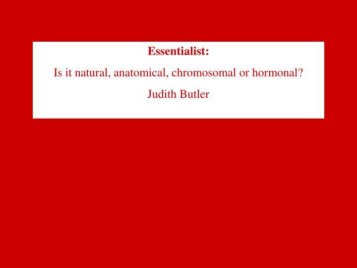 Essentialist: