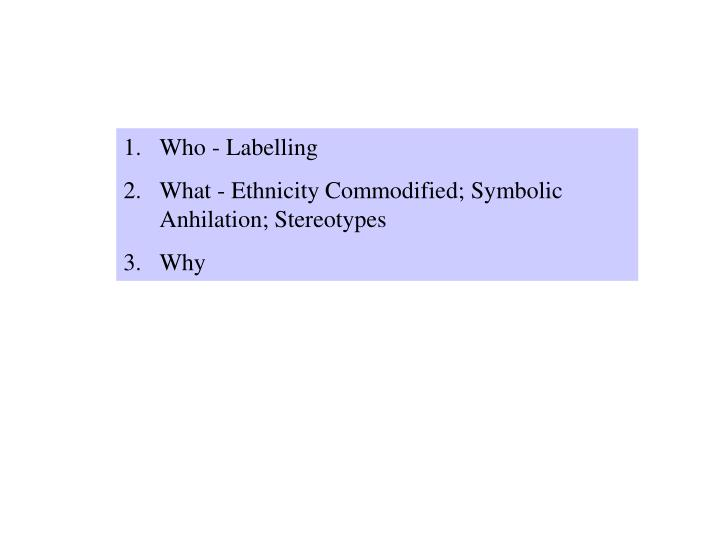 Who - Labelling