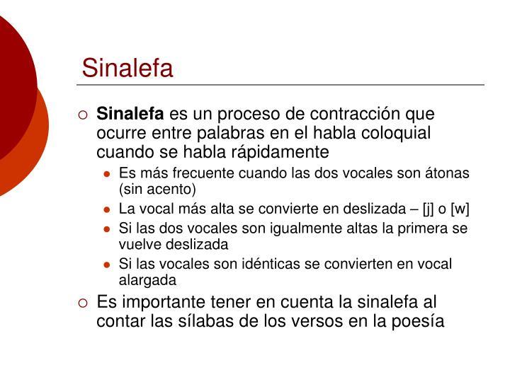 Sinalefa