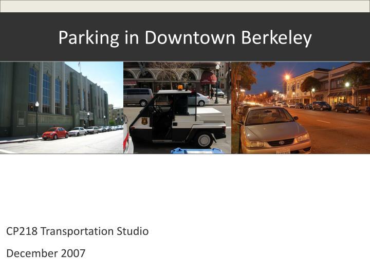 Parking in Downtown Berkeley