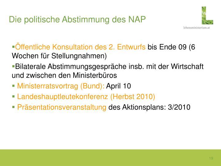 Die politische Abstimmung des NAP