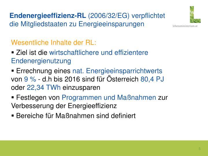 Endenergieeffizienz-RL