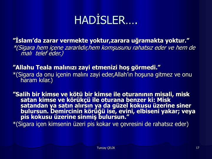 HADİSLER….