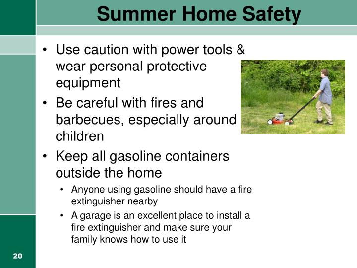 Summer Home Safety