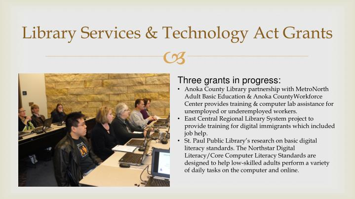 Library Services & Technology Act Grants