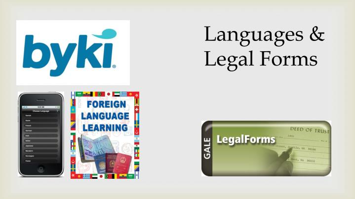 Languages & Legal Forms