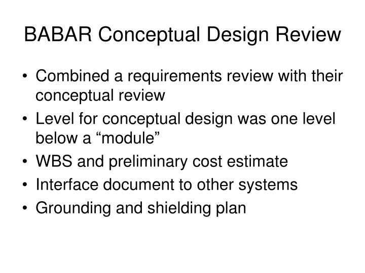 BABAR Conceptual Design Review