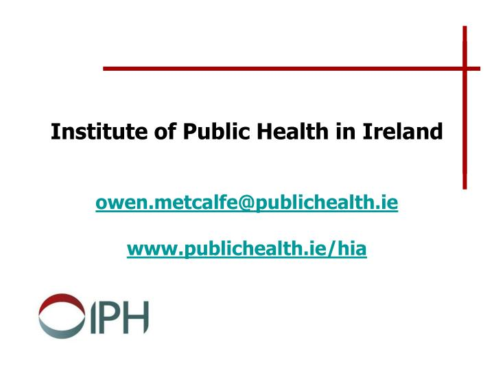 Institute of Public Health in Ireland