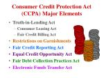 consumer credit protection act ccpa major elements