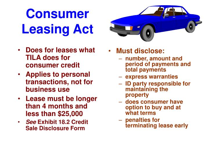 Does for leases what TILA does for consumer credit