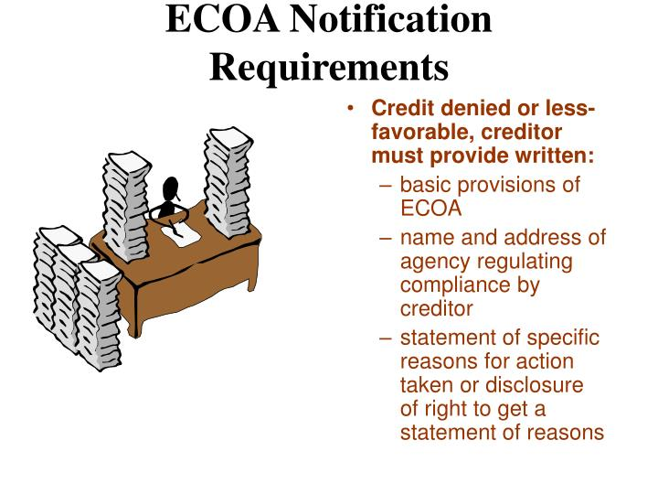 ECOA Notification Requirements