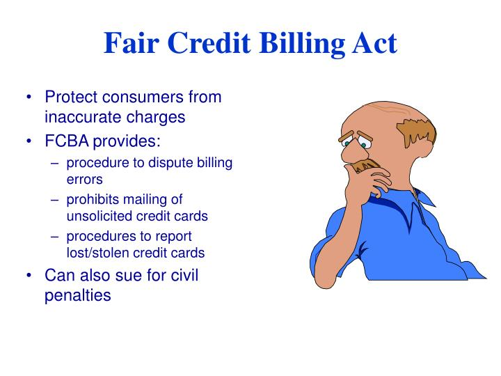 Protect consumers from inaccurate charges