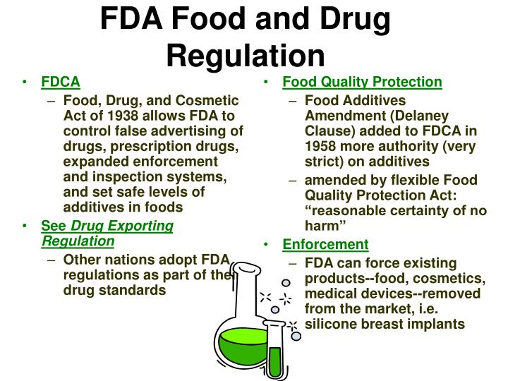 Fda food and drug regulation