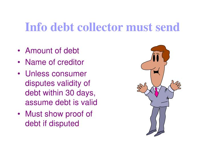 Info debt collector must send