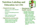 nutrition labeling and education act 1990