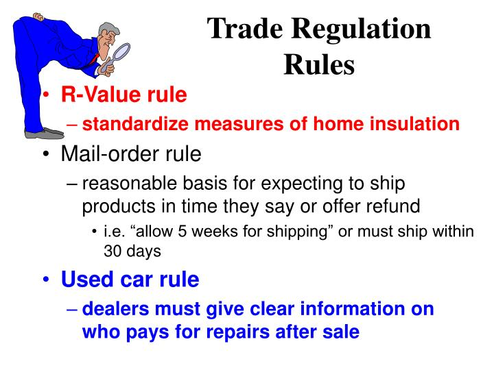 Trade Regulation Rules