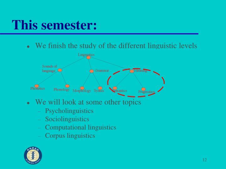 This semester: