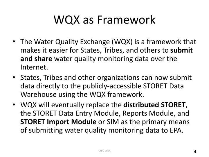 WQX as Framework