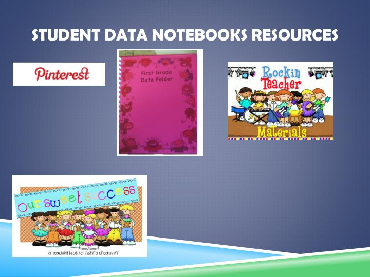 Student Data Notebooks Resources