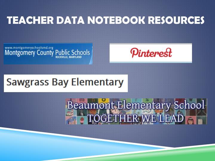 Teacher Data Notebook