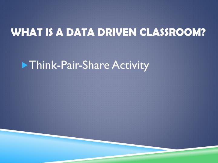 What is a data driven Classroom?