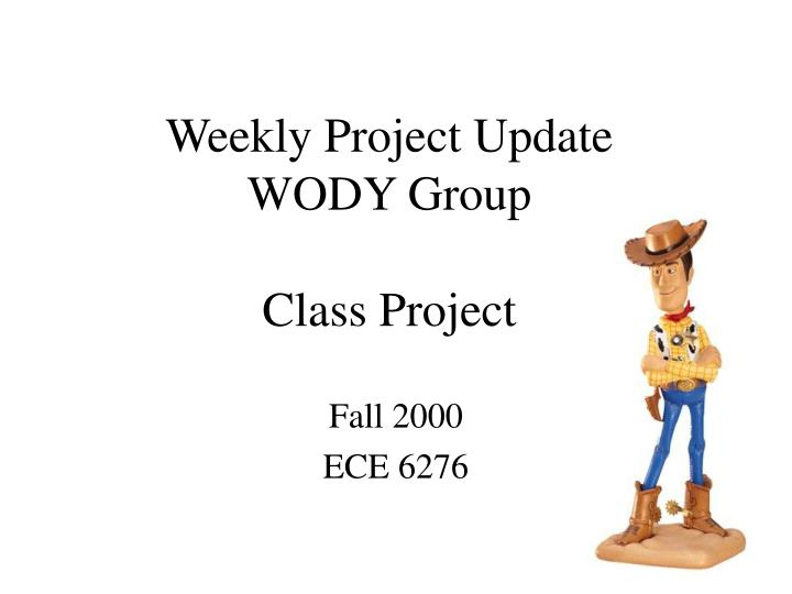Weekly project update wody group class project