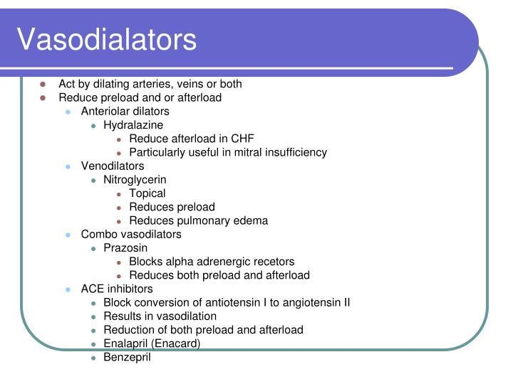Vasodialators