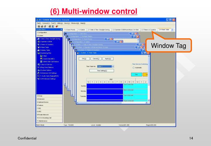 (6) Multi-window control