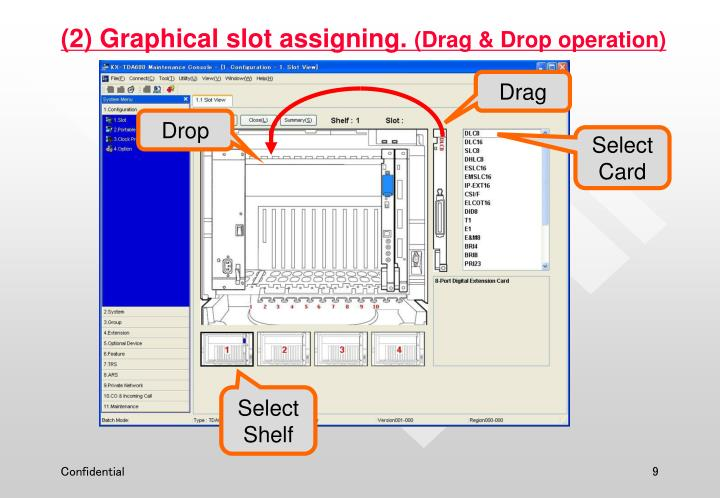 (2) Graphical slot assigning.