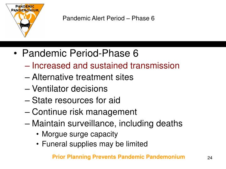 Pandemic Alert Period – Phase 6